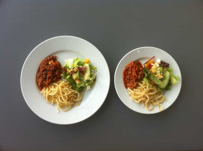 Decrease Your Plate Size is listed (or ranked) 2 on the list Quick, Healthy Weight Loss Tips