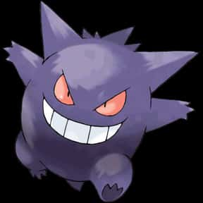 Gengar is listed (or ranked) 1 on the list The Best Ghost Pokemon of All Time