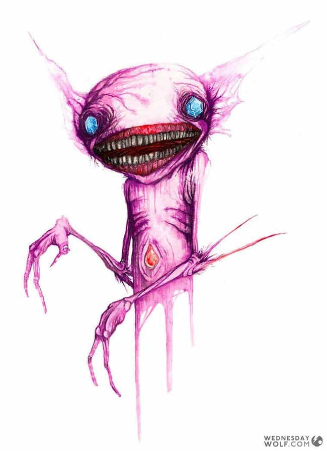 Sableye is listed (or ranked) 3 on the list Wednesday Wolf Creates Pokemon You'd Only Encounter In Your Nightmares