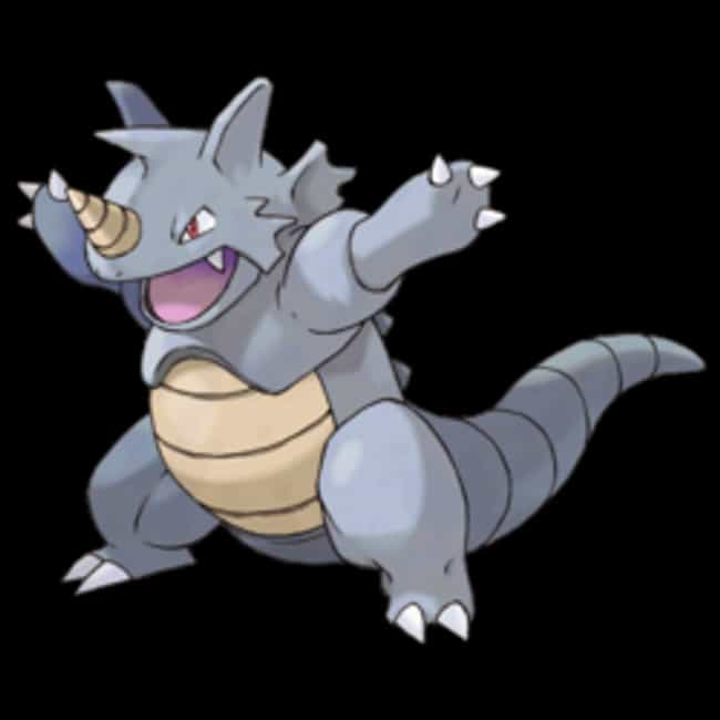 Rhydon is listed (or ranked) 4 on the list The Best Rock Pokemon