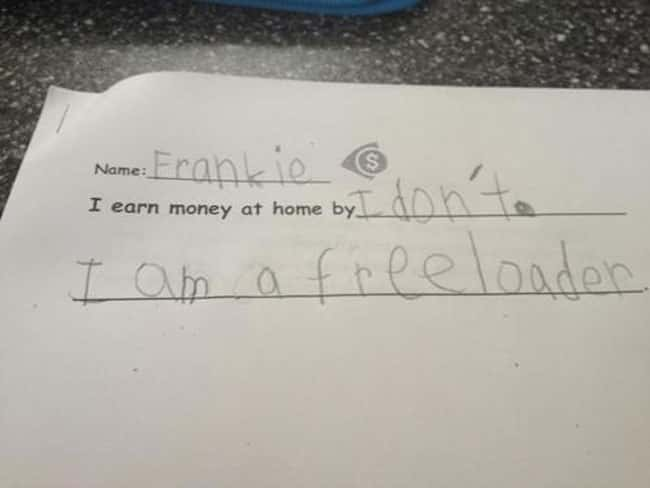 Kid Tells It Like It Is is listed (or ranked) 16 on the list 53 Hilarious Test Answers From Kids