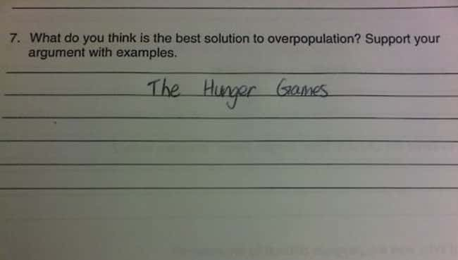 The Ultimate Solution is listed (or ranked) 24 on the list 53 Hilarious Test Answers From Kids