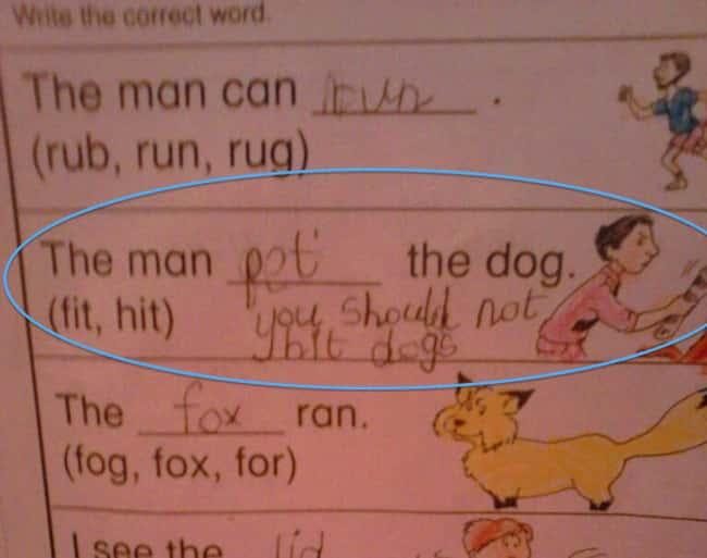 A Valuable Lesson is listed (or ranked) 15 on the list 53 Hilarious Test Answers From Kids