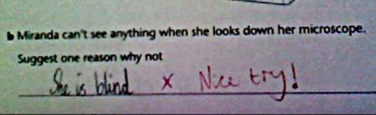 Oh, Miranda is listed (or ranked) 4 on the list Hilarious Test Answers From Kids