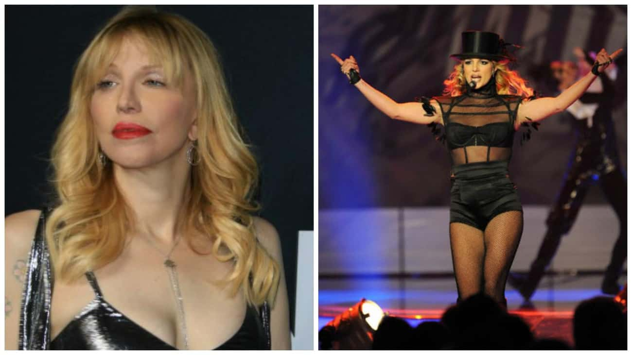 Courtney Love to Britney Spear is listed (or ranked) 3 on the list The Most Honest Advice Celebrities Gave Other Celebs