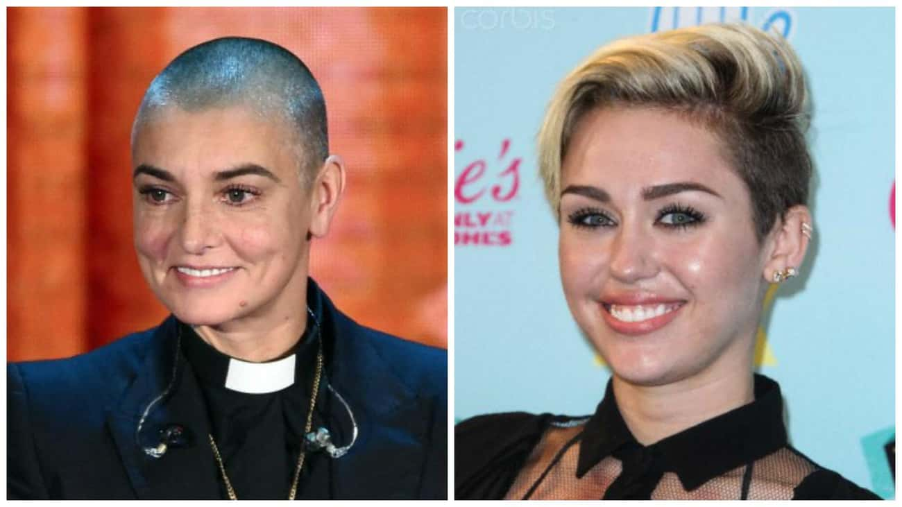 Sinead O'Connor to Miley Cyrus is listed (or ranked) 1 on the list The Most Honest Advice Celebrities Gave Other Celebs