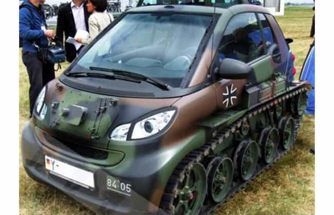 The Smart Tank is listed (or ranked) 1 on the list 20 Insane Car Modification FAILs