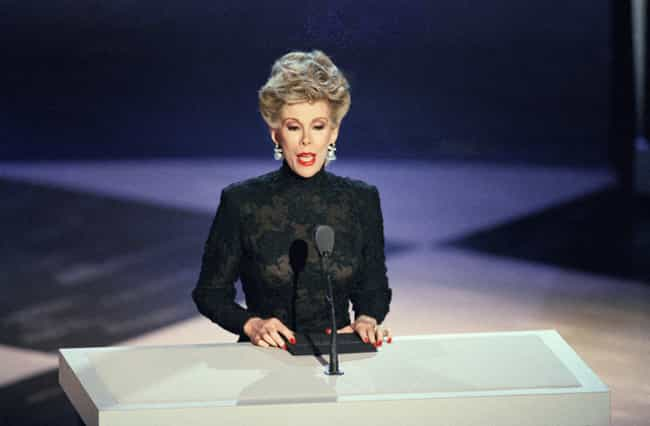 Giving a speech in a black get... is listed (or ranked) 3 on the list 17 Pictures Of A Young Joan Rivers