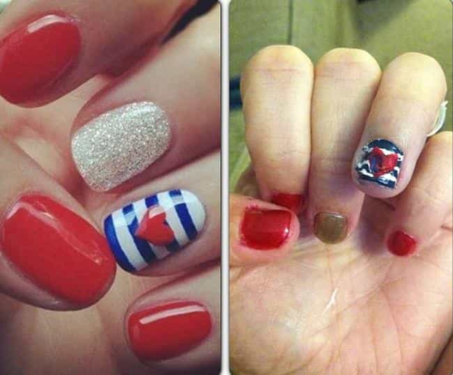 Ran Out of Polish Remover is listed (or ranked) 3 on the list 23 Tragic 4th Of July Pinterest Fails
