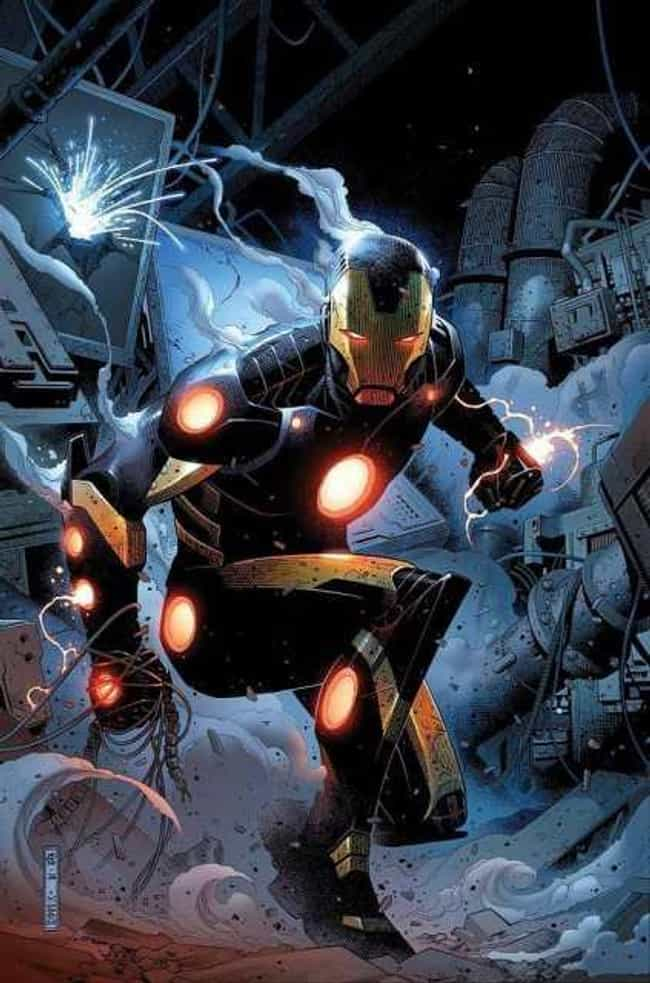 Black and Gold Armor is listed (or ranked) 3 on the list The Greatest Iron Man Armor of All Time