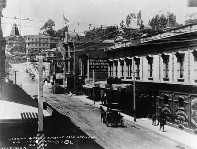 Spring Street, 1888 is listed (or ranked) 5 on the list 40 Mind-Blowing Photos of Historic Los Angeles