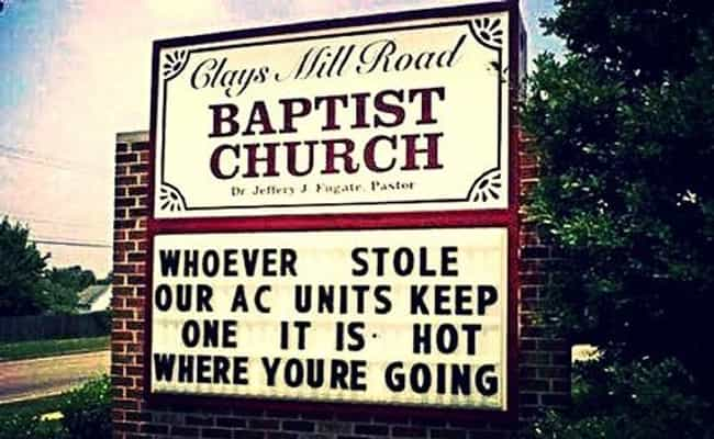 Church Has Sass is listed (or ranked) 2 on the list The 50+ Most Hilarious Signs