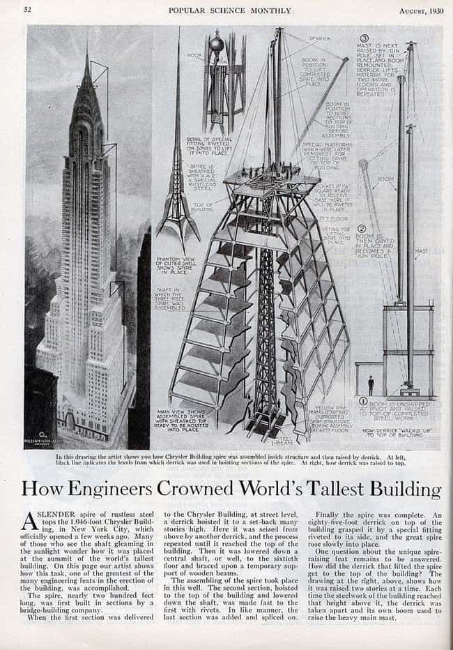 Chrysler Under Construction, 1... is listed (or ranked) 4 on the list 16 Beautiful Old New York Photos