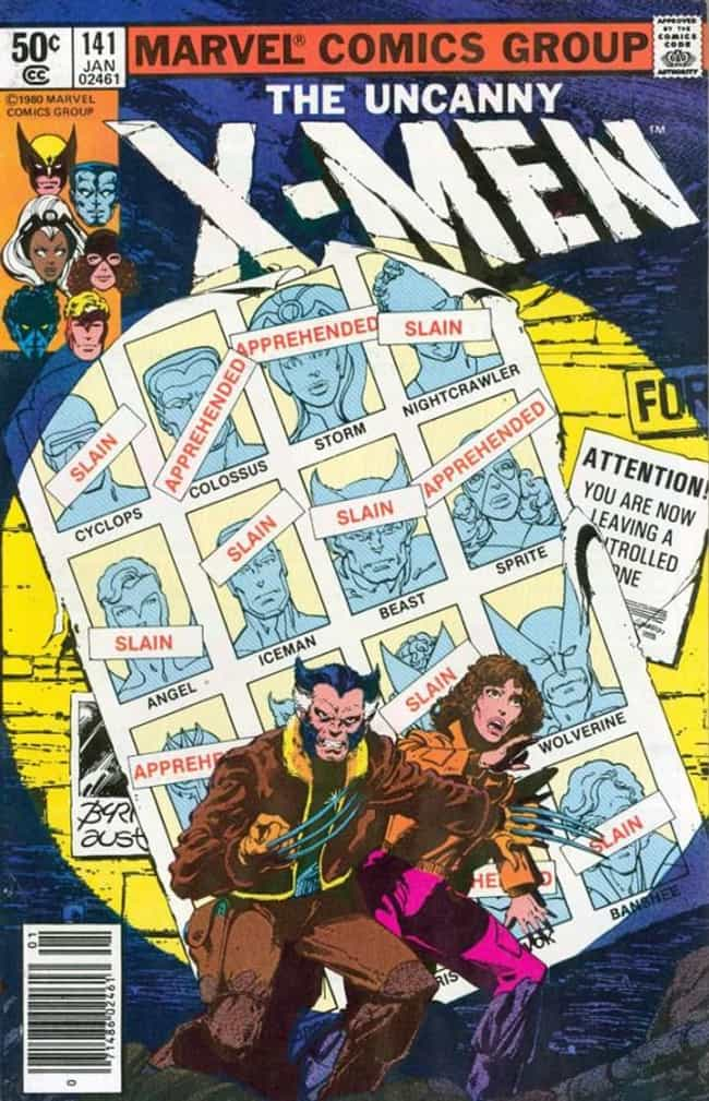 Uncanny X-Men #141 is listed (or ranked) 3 on the list The 100 Greatest Comic Book Covers of the 1980s