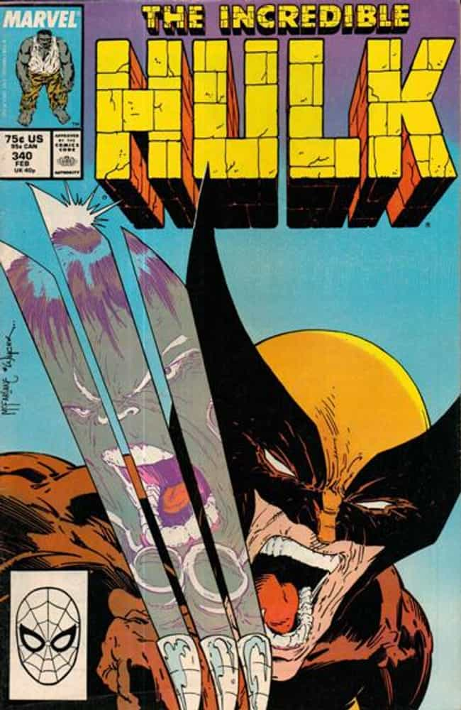 Incredible Hulk #340 is listed (or ranked) 4 on the list The 100 Greatest Comic Book Covers of the 1980s