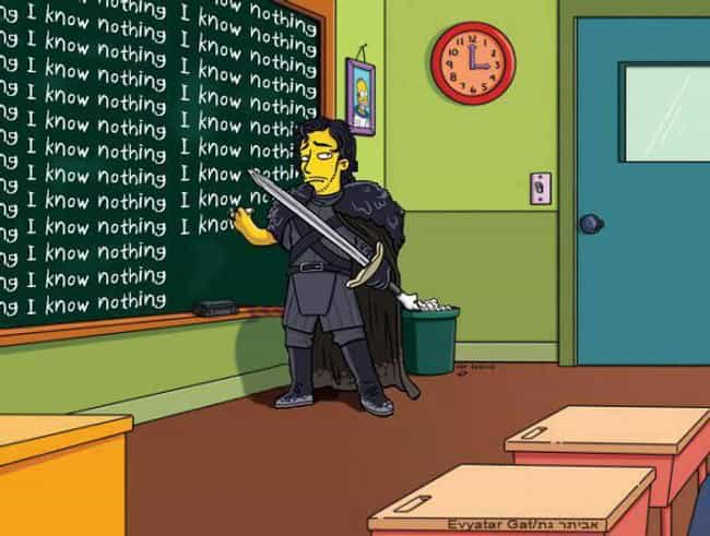 The Simpsons is listed (or ranked) 1 on the list 40+ Epic Game of Thrones Mashups You Didn't Know You Needed