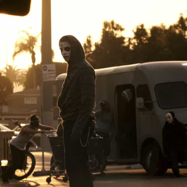 All Crime, Including Mur... is listed (or ranked) 1 on the list The Purge: Anarchy Movie Quotes