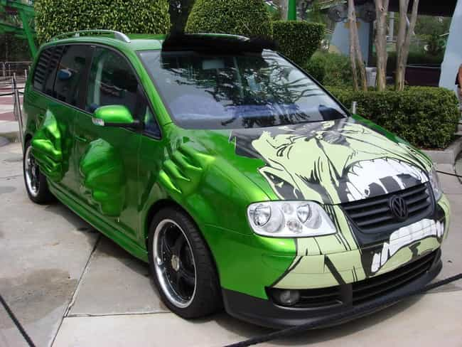 Hulk Smash Groceries is listed (or ranked) 3 on the list The 16 Coolest Superhero Themed Vehicles