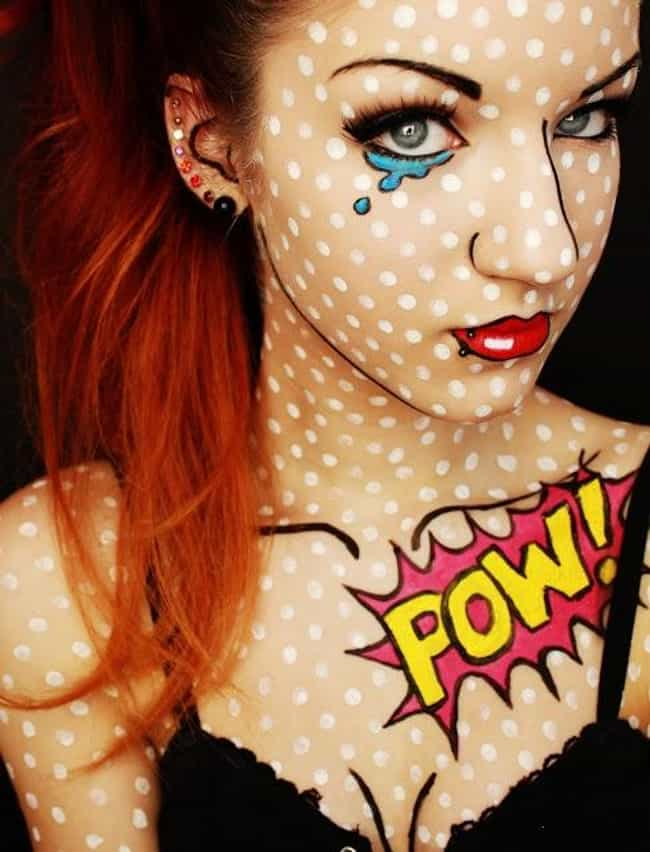 Pop Art Comic is listed (or ranked) 3 on the list 30+ Special Effects Makeup Transformations