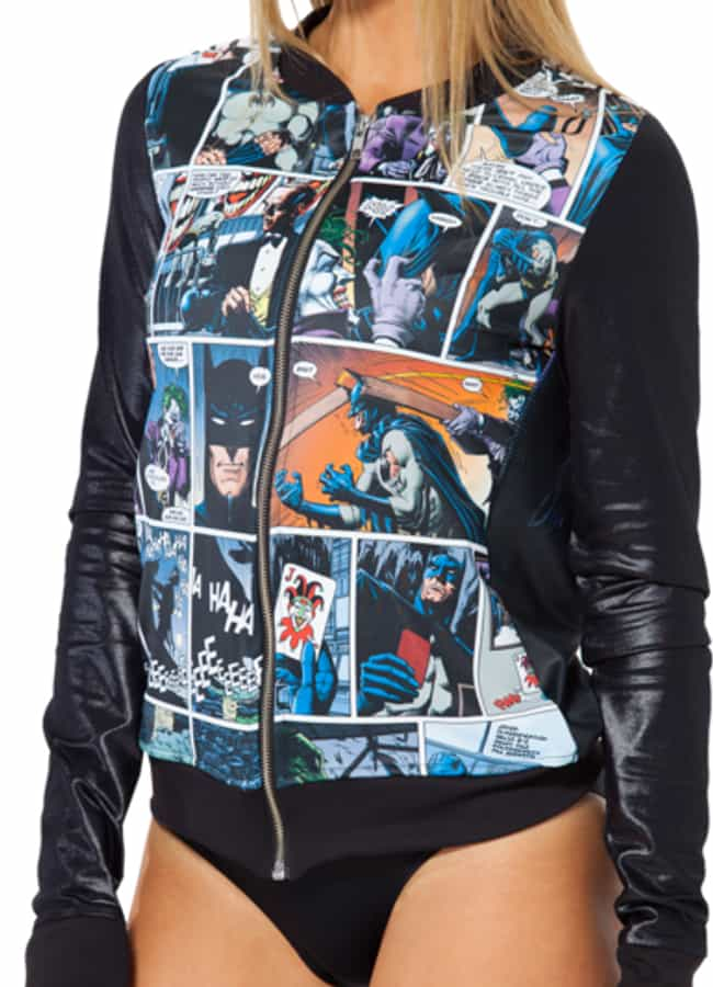 BlackMilk Killing Joke Bomber is listed (or ranked) 4 on the list The Best DC Comics Wearables