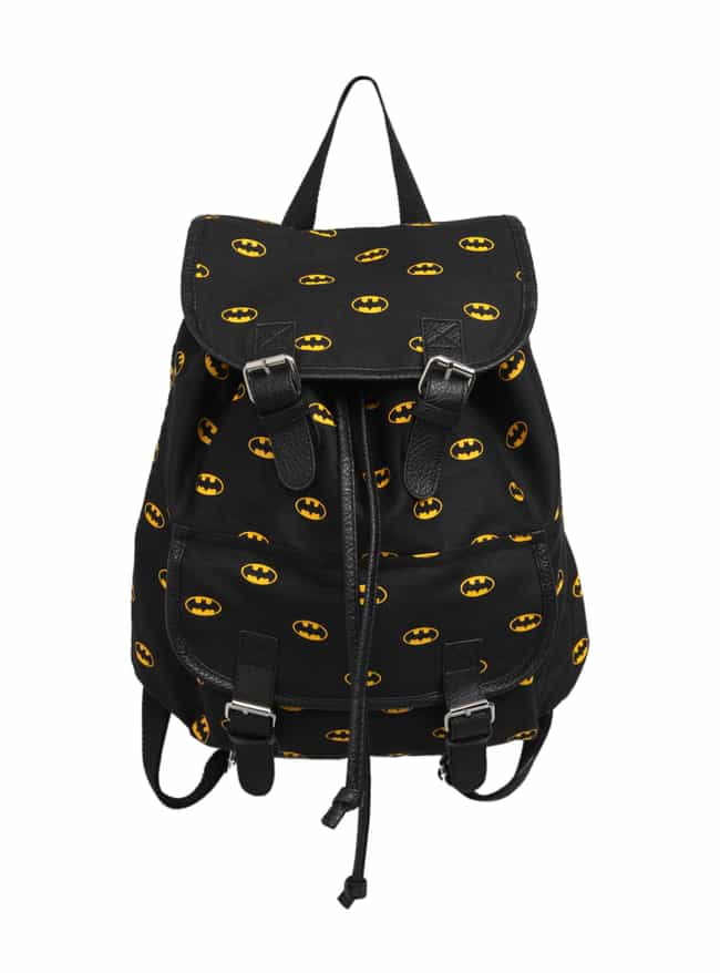 Batman Logo Backpack is listed (or ranked) 2 on the list The Best DC Comics Wearables