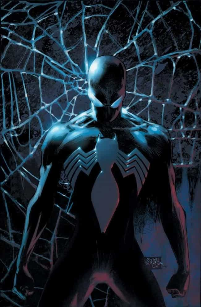 Black Suit - Spider-Man ... is listed (or ranked) 1 on the list The Best Alternate Costumes in Marvel Comics