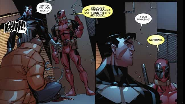 Deadpool and the Punisher is listed (or ranked) 3 on the list 69 Hilarious Deadpool Comics Moments