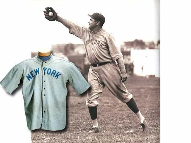 Babe Ruth's Jersey is listed (or ranked) 1 on the list The Most Expensive Pop Culture Memorabilia Sold at Auction
