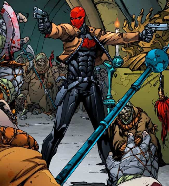 New 52 Red Hood is listed (or ranked) 1 on the list The Best Alternate Costumes in DC Comics