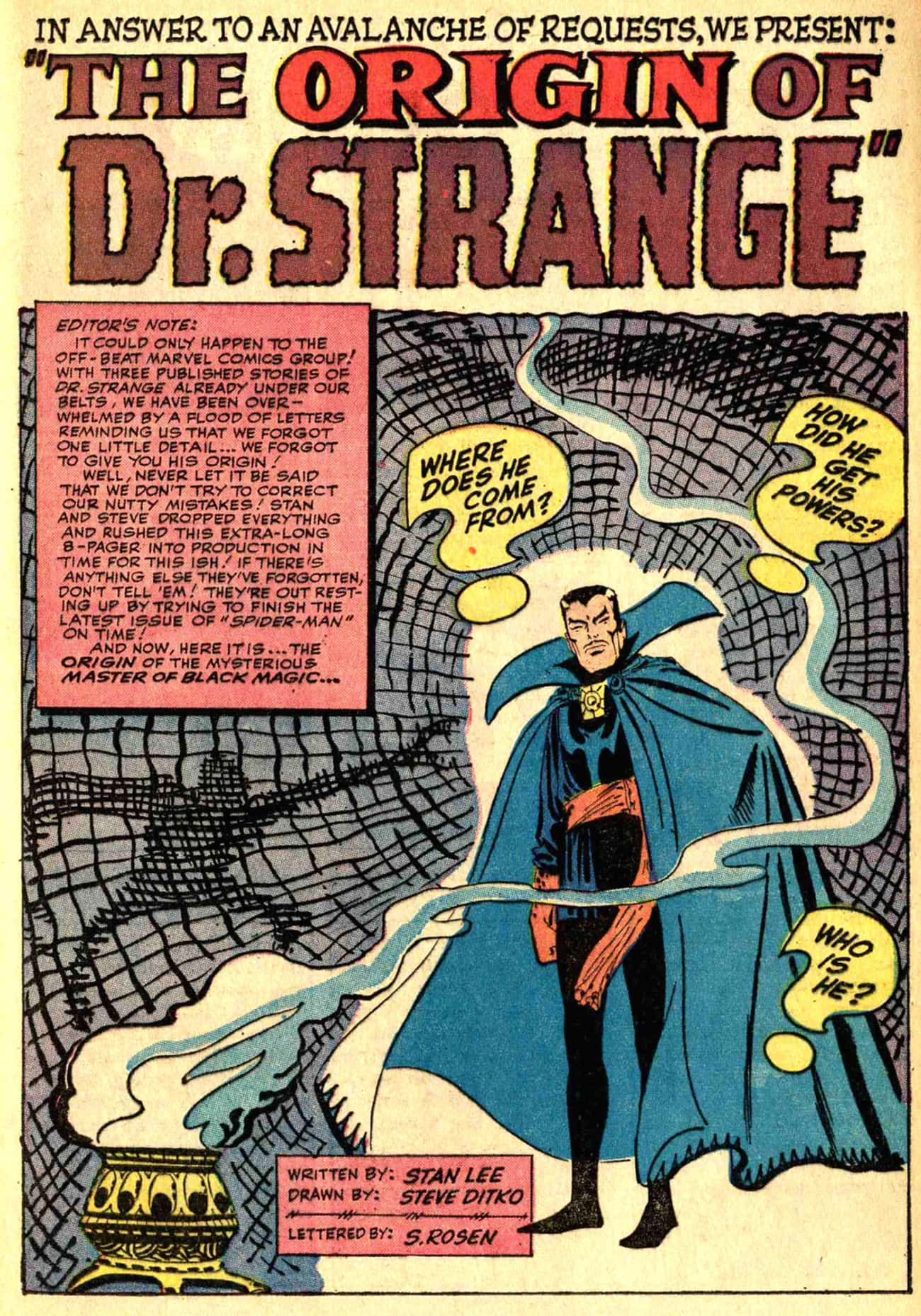 The Origin of Doctor Strange is listed (or ranked) 3 on the list Doctor Strange Stories to Read Before You See the Movie