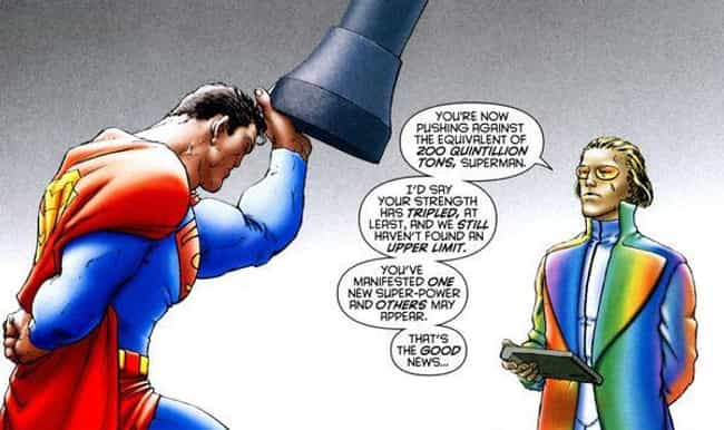 Super Strength is listed (or ranked) 1 on the list All Superman's Awesome and Absurd Superpowers