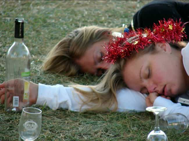 Drunk People Who Fall Asleep A... is listed (or ranked) 3 on the list The Types of People You Encounter at Every Music Festival