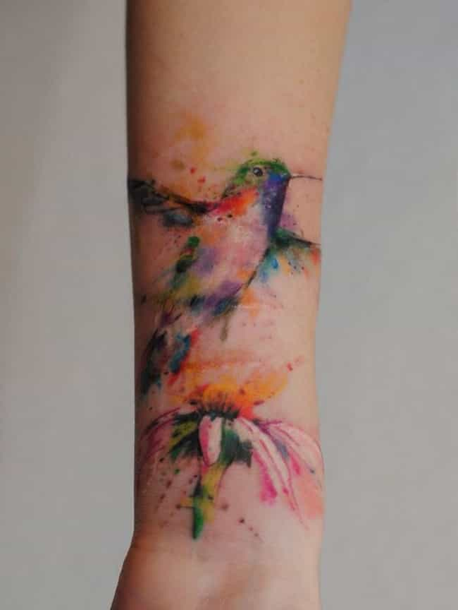 a6890028b9265 Hummingbird Tattoo On Wrist is listed (or ranked) 1 on the list  Breathtaking Watercolor