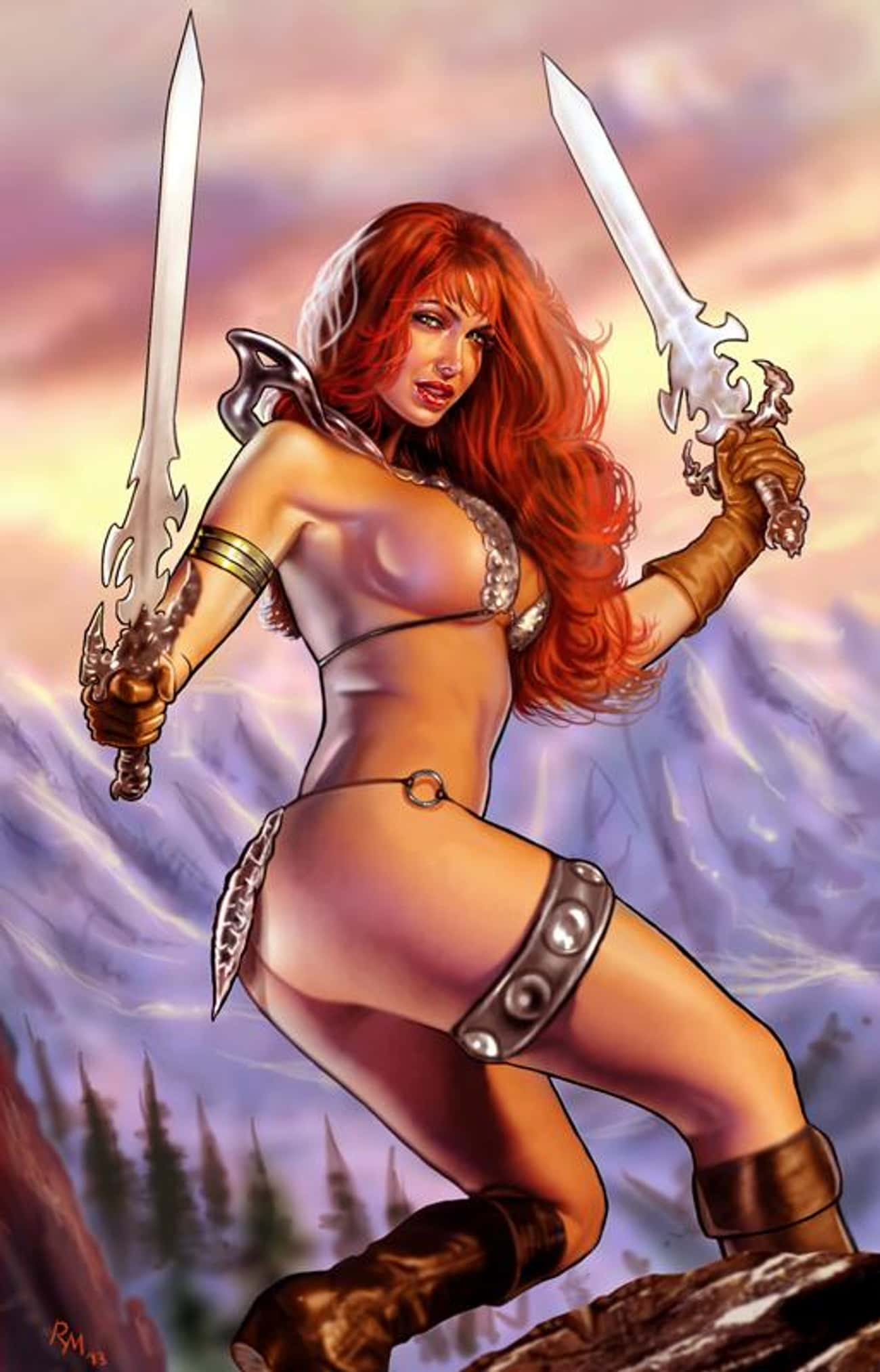 Red Sonja is listed (or ranked) 4 on the list The Most RevealingSuperheroine Costumes In Comics