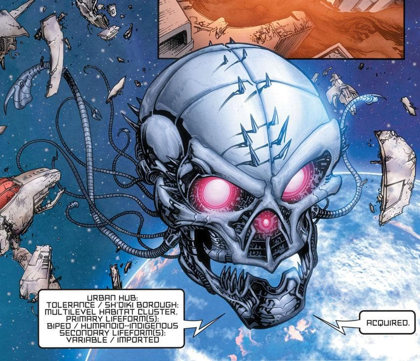 Brainiac's Skull Ship on Random Best and Worst Vehicles in DC Comics