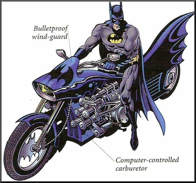 Bat-Cycle is listed (or ranked) 4 on the list The Best and Worst Vehicles in DC Comics