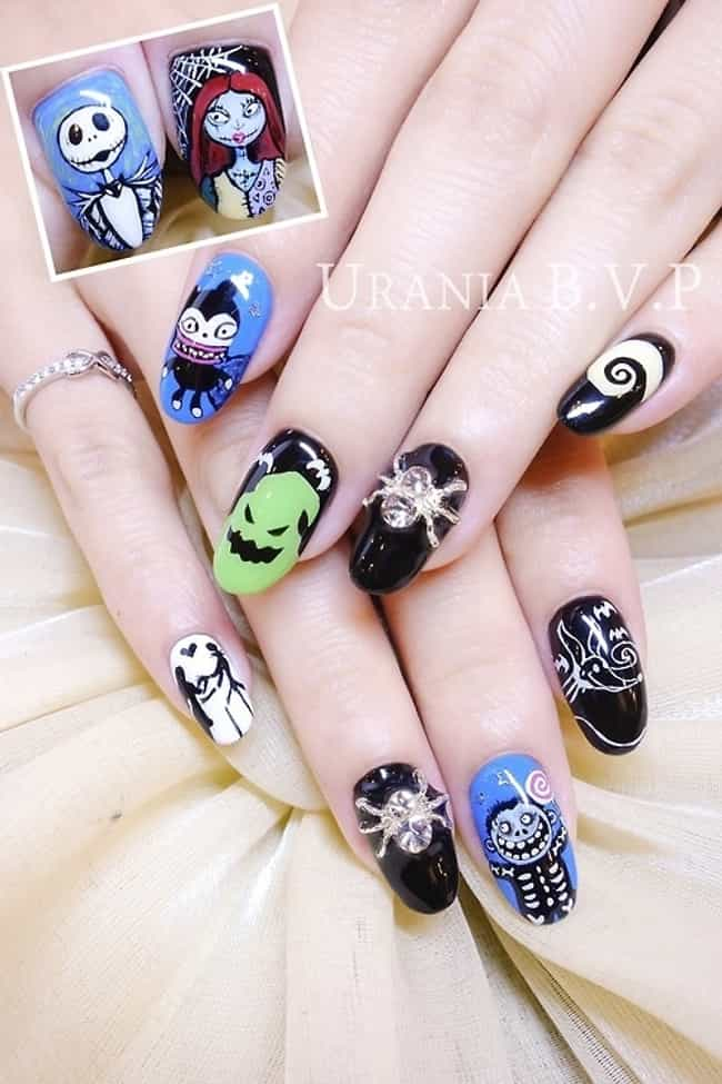Nightmare Before Christmas is listed (or ranked) 2 on the list 100+ Awesomely Geeky Manicures