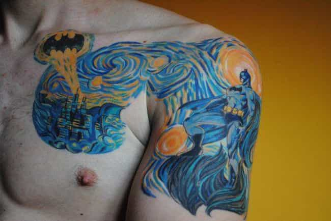 Starry (K)night is listed (or ranked) 4 on the list The Best DC Comics Tattoos