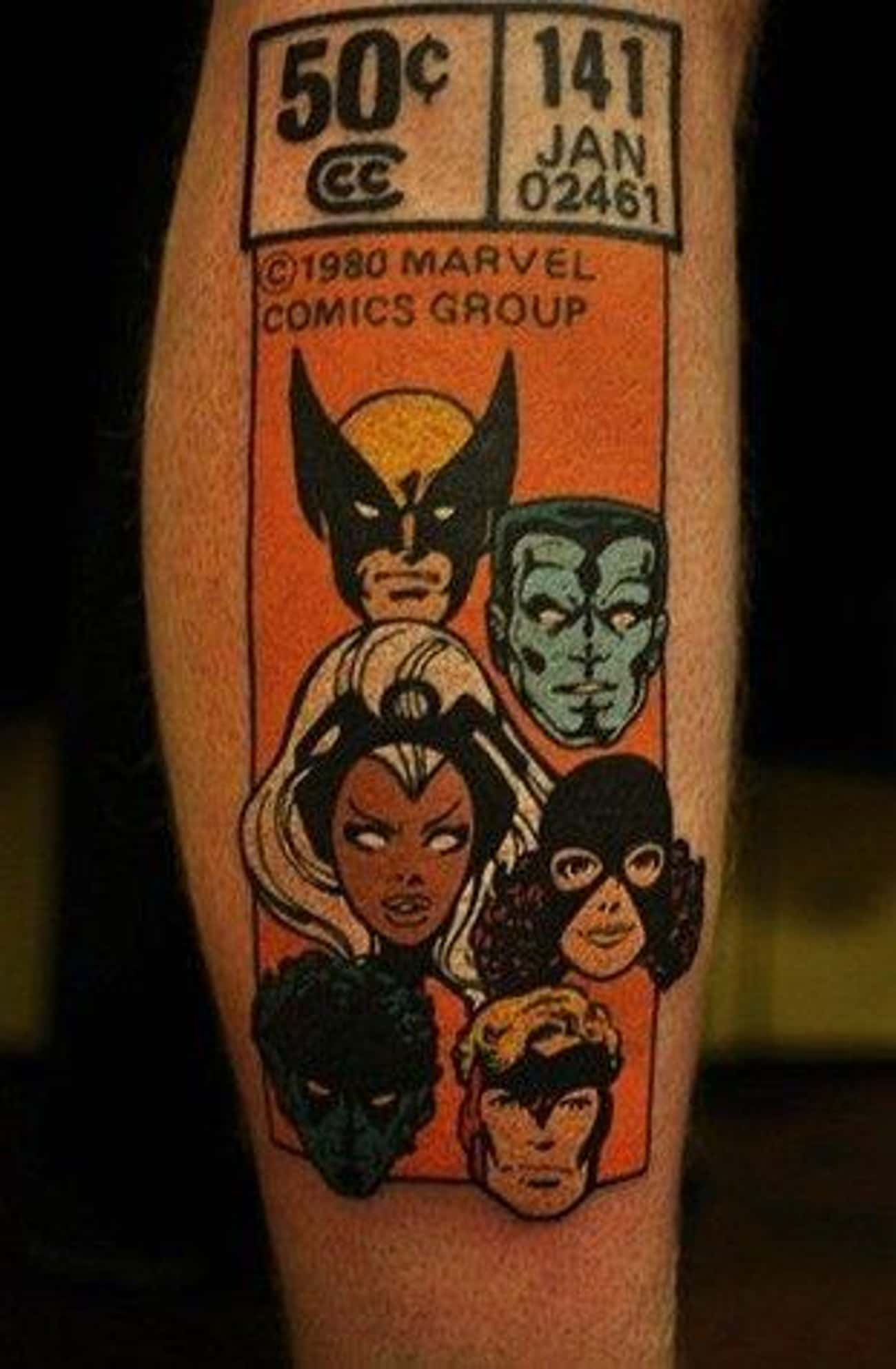 Old School X-Men is listed (or ranked) 3 on the list The Best Marvel Comics Tattoos