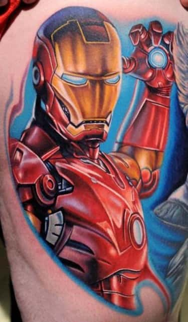 Iron Man is listed (or ranked) 2 on the list The Best Marvel Comics Tattoos