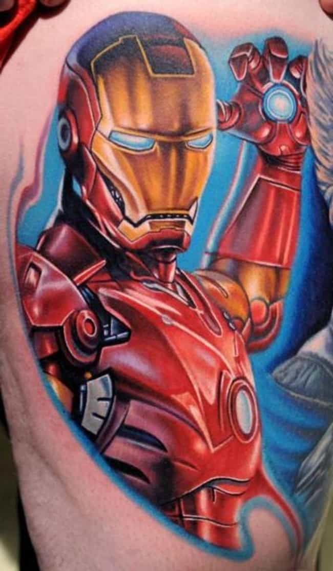 Iron Man is listed (or ranked) 4 on the list The Best Marvel Comics Tattoos