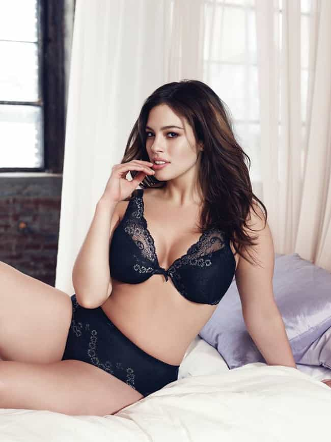 Lounging On a Bed With Her Han... is listed (or ranked) 2 on the list Hot Ashley Graham Pics