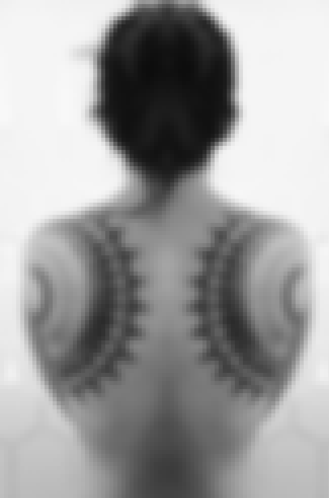 Inverted Shoulder Blade Tattoo is listed (or ranked) 4 on the list 30 Amazing Geometric Tattoos