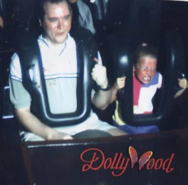 This Irresponsible Dad W... is listed (or ranked) 5 on the list The 55 Greatest Rollercoaster Pics Ever Taken