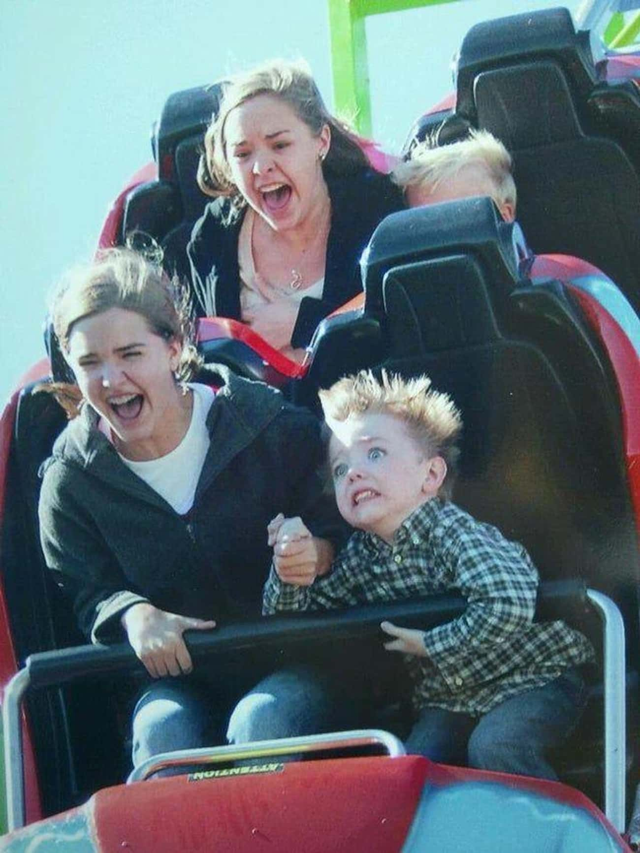 When Kids Learn Fear is listed (or ranked) 2 on the list The 39 Greatest Rollercoaster Pics Ever Taken