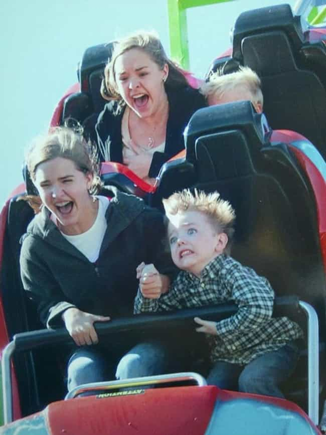 When Kids Learn Fear is listed (or ranked) 2 on the list The 55 Greatest Rollercoaster Pics Ever Taken