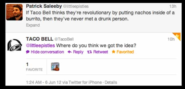 Hilarious Taco Bell Tweets - 20 hilarious tweets that sum up what its like dating someone