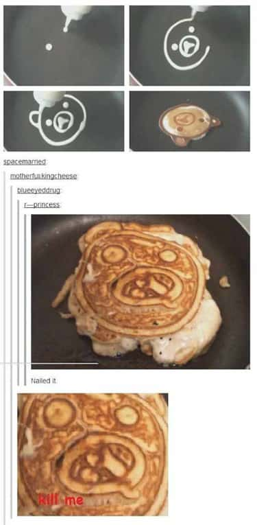 Pitiful Pancake is listed (or ranked) 1 on the list Pinterest FAILs That'll Ruin Your DIY Dreams