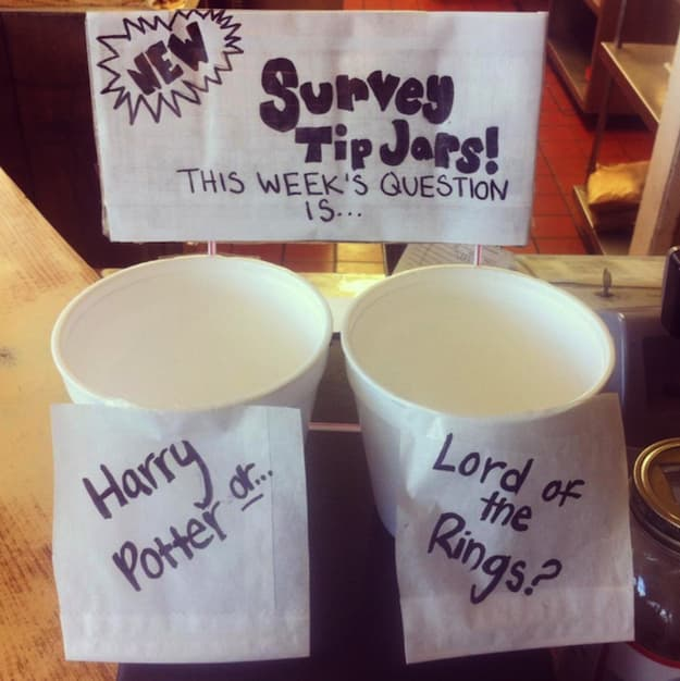 Another Nerdy Sophie's Choice on Random Funny Tip Jars That Would Earn Your Quarters