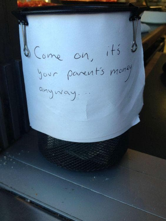 Name That Town! on Random Funny Tip Jars That Would Earn Your Quarters